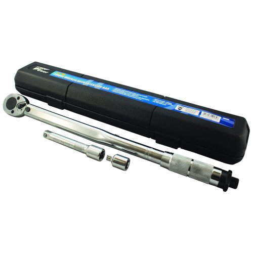 pro user WR302 Torque Wrench with Extension Bar, Silver, 1/2-Inch Drive