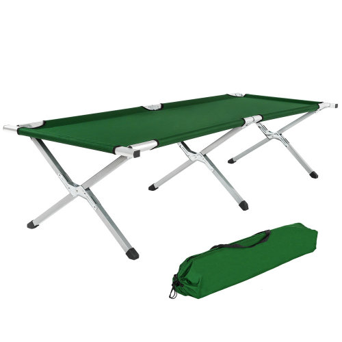 Camping bed green