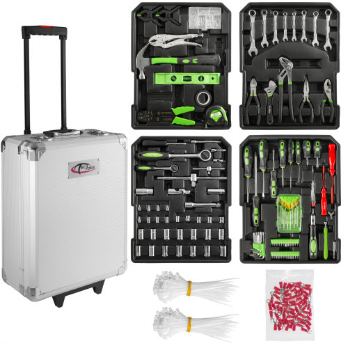Tool box trolley 698 PCs - silver