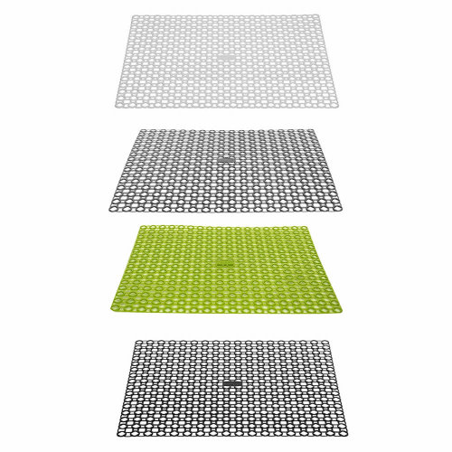 Plastic Sink Draining Board Mat Drainer Kitchen Washing Up Pots Drying Tray