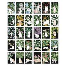30PCS 1 Set Creative Postcards Artistic Beautiful Postcards, Cats