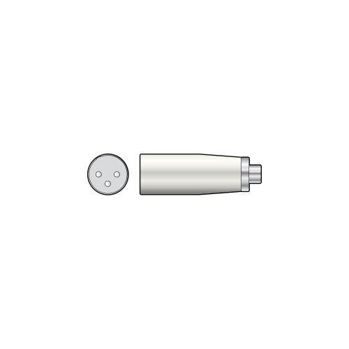 3-pin XLR Male - RCA Phono Socket