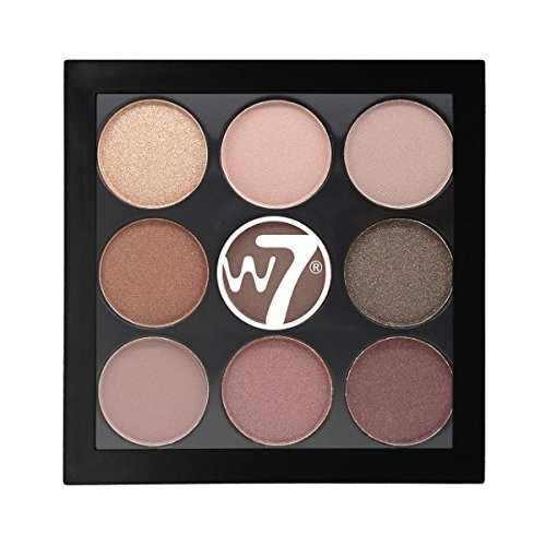 W7 The Naughty Nine Mid Summer Nights of Eye Colour Palette, 4.5 g