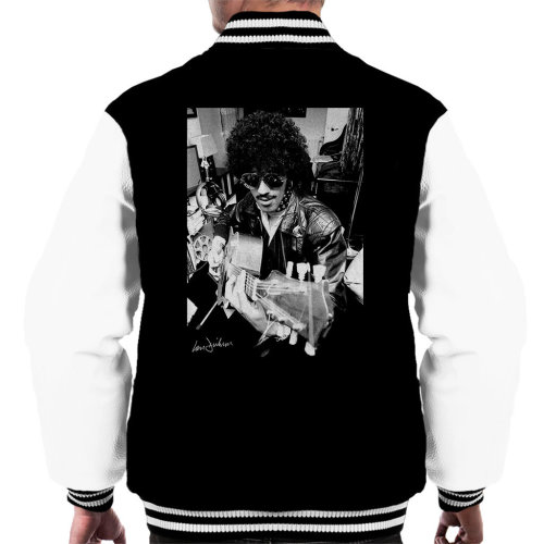 Ian Dickson Official Photography - Phil Lynott Of Thin Lizzy Playing Acoustic 1976 Men's Varsity Jacket