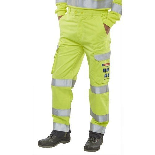 "Click CARC5SYN30 ARC Compliant Flame Retardant Hi Vis Yellow Trousers 30"" Regular"