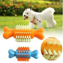 Creative Pet Toothbrush Toy Bone Shape Dog Cat Chewing Toy