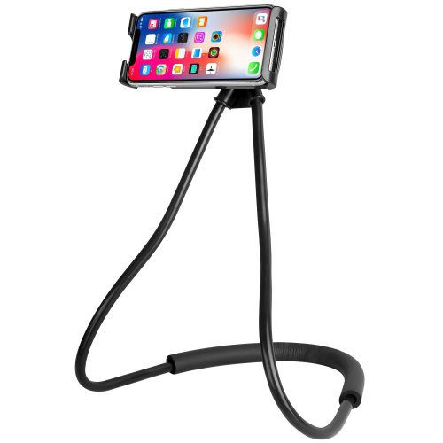 Lazy Phone Holder, ANGGO Universal Mobile Phone Stand Goose Neck 360 Rotating Flexible Long Arm DIY Free Rotating Phone Mounts Hanging on Neck Cell...