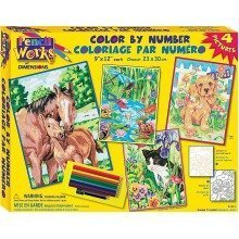 Dpw91274 - Paintsworks Pencil by Numbers - Animal Friends