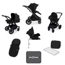 Ickle Bubba Stomp V3 All-in-1 Travel System & Isofix Base - Black/black