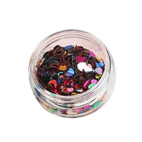 5 Boxes Makeup Glitter Sequins Shining Nail Art Sequins Face Glitter, Heart