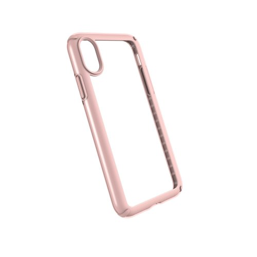 wholesale dealer 6489b 6fa83 Speck Presidio Show Super-Slim Clear Back Case for iPhone X/XS, Clear/Rose  Gold