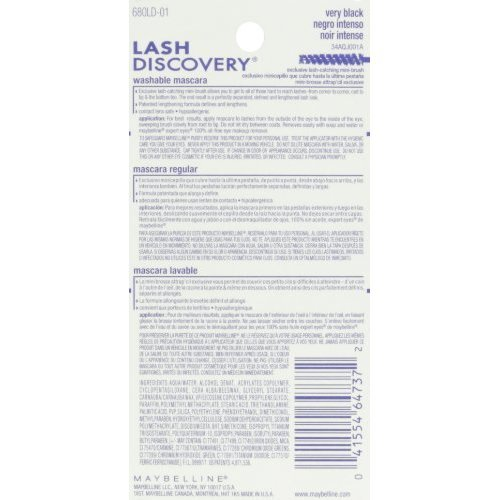 365d7c79d76 Maybelline Lash Discovery Washable Mascara Very Black 0 16 Fl Oz on OnBuy