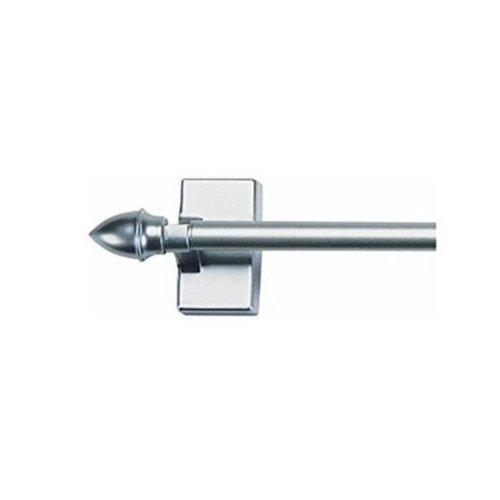 Kenney Manufacturing KNL40369 16-28 in. Satin Nickel Magnetic Cafe Rod