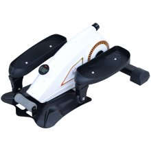 HOMCOM Mini Elliptical Stride Trainer Pedal Exerciser Stepper Cardio Workout with LCD Display Adjustable Magnetic Resistance