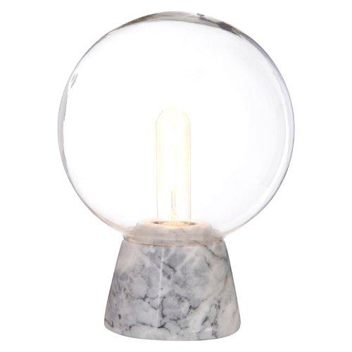 Lamonte Globe Lamp With Grey Marble Base