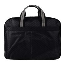 Multilayer Thicker File Holder Zipper Briefcase Information Bag-Black
