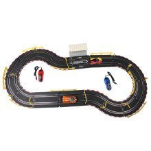 deAO Top Turbo Race Track Set 1:43 Slot Cars - Two Speeds: Beginner and Advanced Race Track (3m Long)