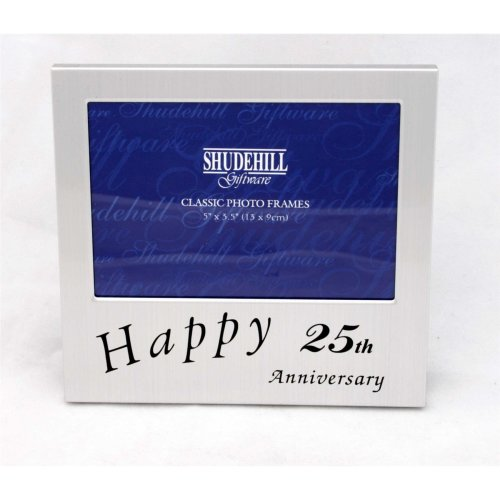 Happy 25th Anniversary 5 x 3 photo Frame by Shudehill giftware