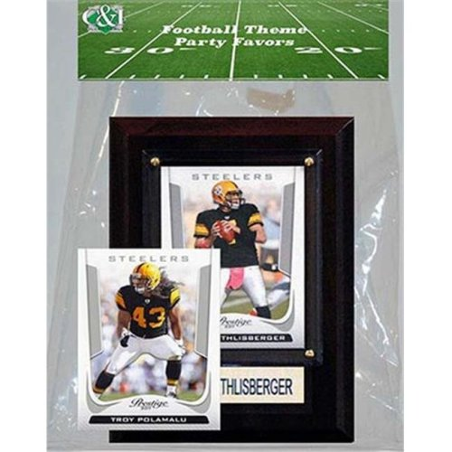 3bb126e9 Candlcollectables 46LBSTEELERS NFL Pittsburgh Steelers Party Favor With 4 x  6 Plaque on OnBuy