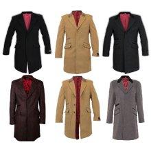 De La Creme MAN - Mens Covert Retro Mod Crombie Coat