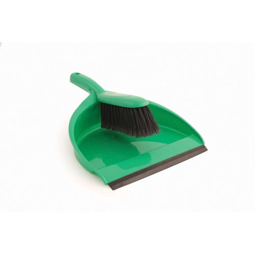 Abbey Plastic Dustpan and Brush Set, Green