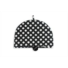 Tea Cosy Teapot Warmer Tableware Mugs Cotton Party Black with White Polka Dots