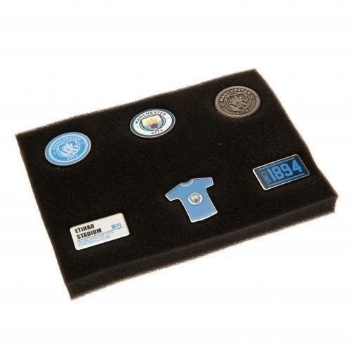 Manchester City 6 Piece Badge Set - Fc Gift Football Official New -  city manchester badge set 6 piece fc gift football official new