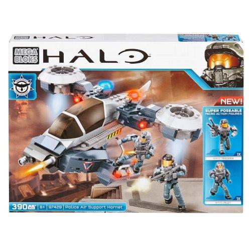 Mega Bloks Halo Police Air Support Hornet Brand New Sealed