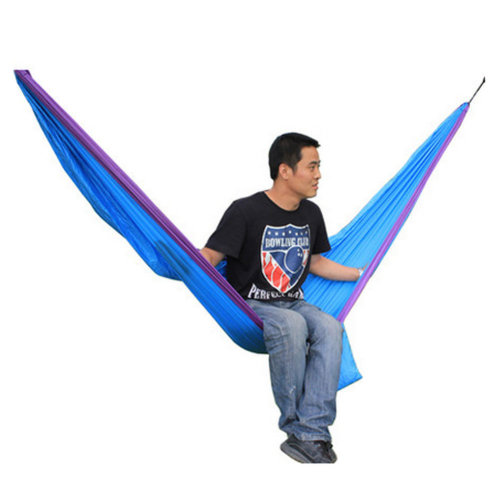 Creative Canvas Color Matching Hammock Foldable Hammock Blue&Pink 116*53""