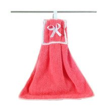 Plush Kids Hanging Hand Towels, Fingertip Towels, Kitchen Toilets Toy,Red