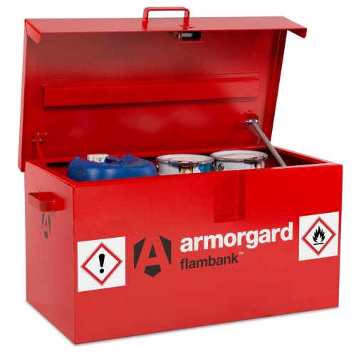 Armorgard FlamBank Flammable Liquids Safe Storage Van Vault Box 980x540x475mm