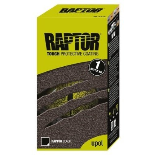 UPOL Raptor Tough Urethene Coating Truck Bed Liner Black 1 bottle kit