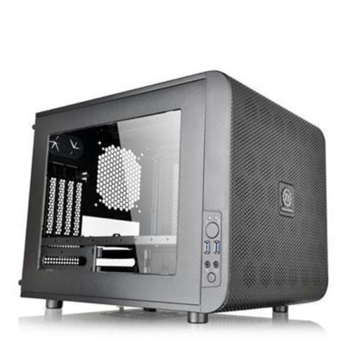 Thermaltake CA-1D5-00S1WN-00 Extreme Micro ATX Cube Chassis - Black