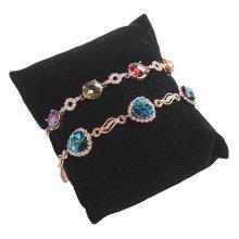 Jewelry Organizer Bracelet Watch Necklace Holder Display Stands Board Black
