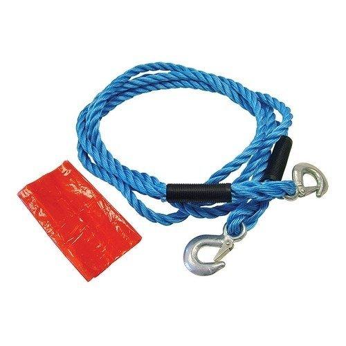 Faithfull FAIAUTR2TON Tow Rope 4m Metal Hooks 2 Tonne