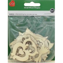 Assorted Wood Shapes-Owl Pairs 8/Pkg
