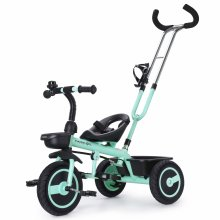 Fascol Kids Tricycle with Detachable Push Handle 3 Wheel Toddlers Children Ride on Pedal Trike Bike 18 Months to 5 Years, Green