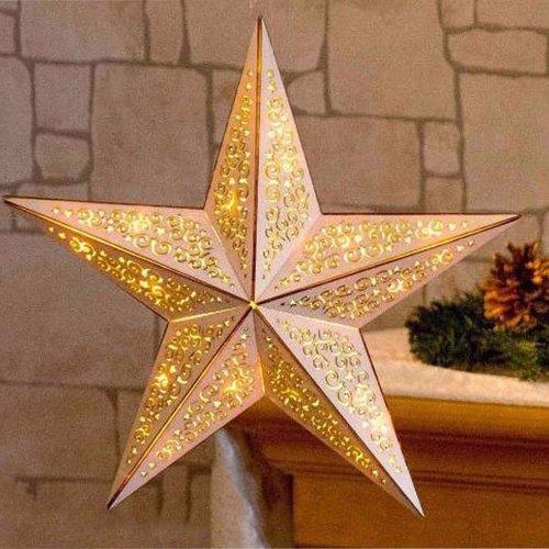 Christmas Wooden LED Star