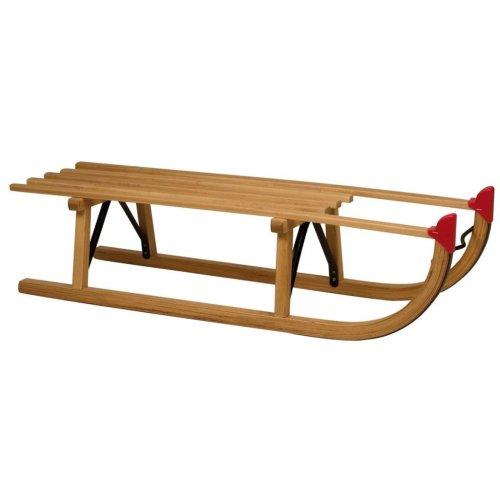 Nijdam Wooden Davos Sledge   Traditional Wood Toboggan