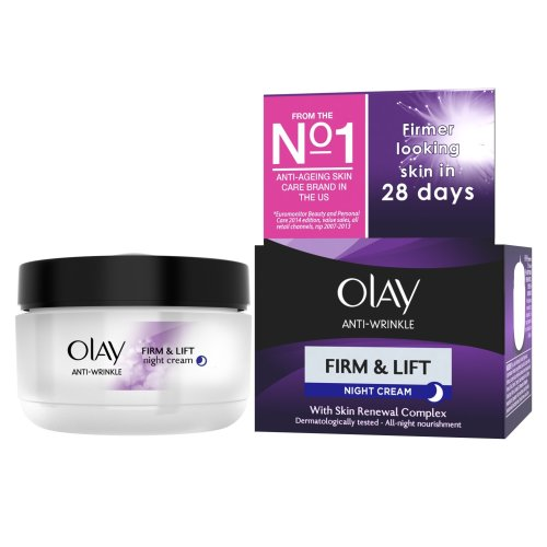 Olay Anti-Wrinkle Firm and Lift Anti-Ageing Moisturiser Night Cream - 50 ml