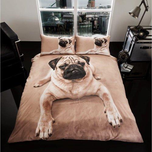 Pug 3D print cotton blend duvet cover bedding set