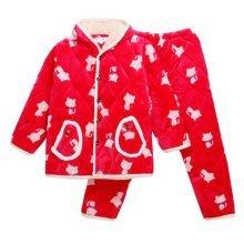 Children Pajamas Warm Thick Cotton Winter Suit Modern Set Sleepwear/Nightwear Clothes for Home, D11