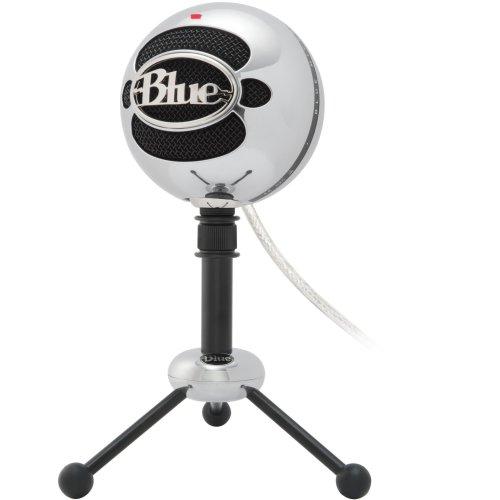 Blue Microphones Snowball Omnidirectional/Cardioid USB Microphone - Aluminum