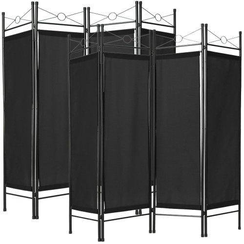 2 room dividers paravent black