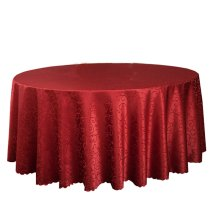 Wedding Banquets Hotels Tabletop Accessories Round Tablecloths Table Cover Red (240x240 CM)