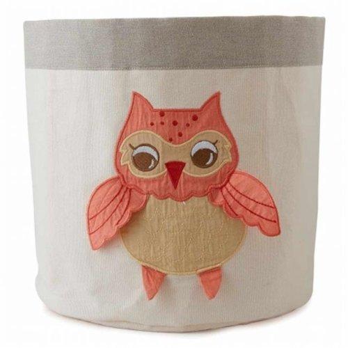Little Acron F13S05 Small Baby Orange Owl Bin