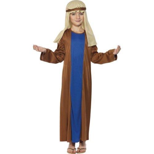 Smiffy's Children's Joseph Costume, Robe & Headpiece, Ages 4-6, Colour: Brown -
