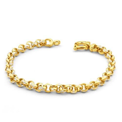 New 9 CT Gold Filled Belcher Bracelet Teenager or Lady 7.5 inch 19.5cm B14