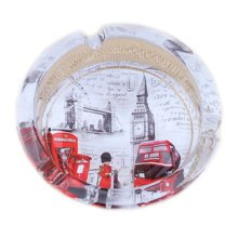 [London Scenery B]Creative Gifts Men's British Style Crystal Glass Ashtray