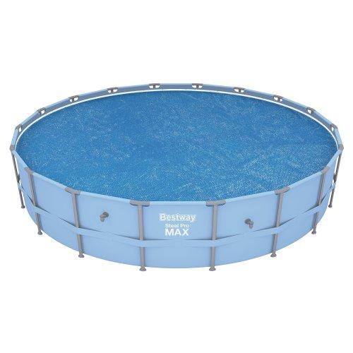 Bestway Steel Frame Solar Pool Cover - 18 feet, Blue